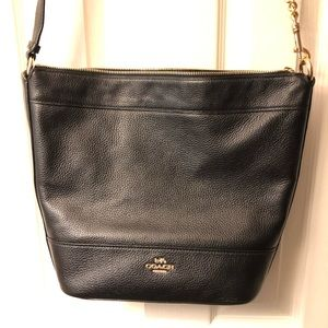 Leather Paxton Duffle Black Coach Purse